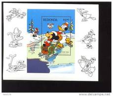 #  490  MINT NEVER HINGED SOUVENIR SHEET OF DISNEY CHRISTMAS  (  REDONDA   1984 - Disney