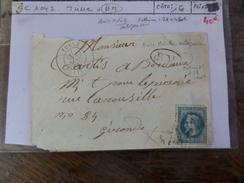 Du 20.09.17_LSC De Tulle +   BM,sur N°29;départ 1€!!!!!! A Voir - 1863-1870 Napoléon III Lauré