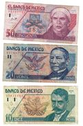 Mexico Lot 10-20-50 Pesos 1992-1994 - Mexico