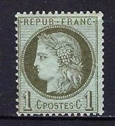 "FR YT 50 "" Cérès 1c. Vert-olive "" Neuf* - 1871-1875 Ceres"