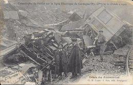 Gare Train Jaune.Catastrophe Du Paillat 31 Octobre 1909 - Autres Communes