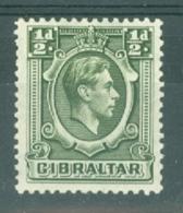 Gibraltar: 1938/51   KGVI     SG121    ½d     MH - Gibilterra