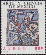 MEXICO - Scott #C380 Mayan Warriors, Dresden Codex / Mint NH Stamp - Mexique