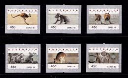 Australia 1996 Kangaroos & Koalas Counter Printed CAPEX 96 Set MNH - 1990-99 Elizabeth II