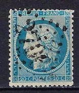 """FR YT 37 """" Cérès 20c. Bleu """" GC 2706 NUITS-COTE-D'OR - 1870 Siege Of Paris"""