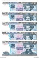 Cuba 20 Pesos 2015 , AUNC. (3.00 Usd X 1 Piece)  FREE SHIP. TO USA. - Cuba