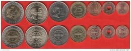 Philippines Set Of 7 Coins: 1 Sentimo - 10 Piso 2002-2011 UNC - Filippine