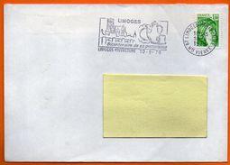 87 LIMOGES  BICENTENAIRE DE SA PORCELAINE  1979 Lettre Entière N° FF 381 - Marcophilie (Lettres)