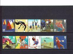 GRANDE  BRETAGNE -Jeux Olympiques Et Paraolumpiques D' été Londres 2012 - Série N° 3510 à N° 3519 - - Neufs