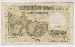 Belgium 50 Francs (19.04.1947) Pick 106 AFine - 50 Francos-10 Belgas
