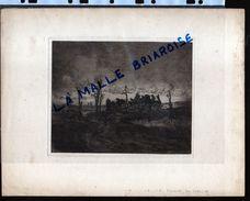 HUYGENS , Eau Forte, La Maison Du Passeur , Militaria - Drawings