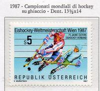 PIA  - AUSTRIA  - 1987 : Campionati Mondiali Di Hockey Su Ghiaccio -    (Yv 1706) - Hockey (su Ghiaccio)