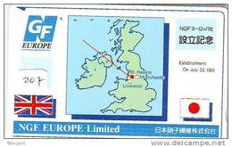 Télécarte Japon ANGLETERRE (207)  GREAT BRITAIN Related * ENGLAND Phonecard Japan * MAP * LIVERPOOL - Paysages
