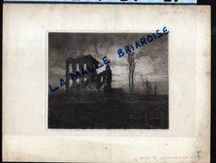 HUYGENS , Eau Forte, Maison De L'eclusier Sur L'Yser, Militaria - Disegni