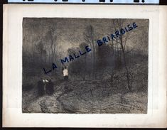HUYGENS , Lithographie, Vers Le Champ Du Repos, Nieuport, Militaria - Drawings