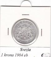 SVEZIA   1  KRONA  ANNO 1904  COME DA FOTO - Svezia