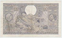 Belgium 100 Francs (02.12.1941) Pick 107 Fine - [ 2] 1831-... : Belgian Kingdom