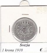 SVEZIA   1  KRONA  ANNO 1910  COME DA FOTO - Svezia
