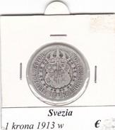 SVEZIA   1  KRONA  ANNO 1913  COME DA FOTO - Svezia