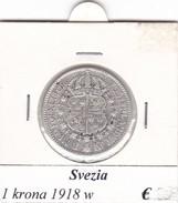 SVEZIA   1  KRONA  ANNO 1918  COME DA FOTO - Svezia