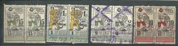 545. Russia USSR 1923-1925 Revenue Stamps Couples - 1923-1991 USSR