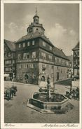 AK Herborn, Marktplatz Mit Rathaus, Ca. 1920er Jahre (15892) - Herborn