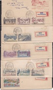 CZECHOSLOVAKIA, 1961, Set Of 5 FDC's,  Prelude To 1962 Praga International Philatelic Exhibition - Briefe U. Dokumente