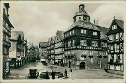 AK Herborn, Markt, O 1933, Vertikaler Knick Oben Links (15894) - Herborn