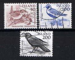 ISLANDE. - 520/522° - OISEAUX - 1944-... Republique