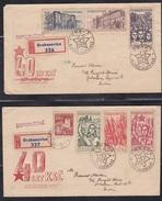 CZECHOSLOVAKIA, 1961, Set Of 2 FDC's, 40th Anniversary Of Chech Communist Party - Tschechoslowakei/CSSR
