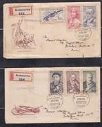 CZECHOSLOVAKIA, 1960, Set Of 2 FDC's, Cultural Anniversaries, Personalities - Czechoslovakia