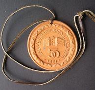 1981 Lithuania Kaunas Jablonskis Ceramic Medal - Ceramics & Pottery