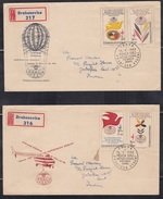 CZECHOSLOVAKIA, 1962, Set Of 2 FDC's, International Philatelic Exhibition, Praga 1962 - Briefe U. Dokumente