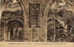 Ruines De L'abbaye De Villers - Le Cloître Et Le Médaillon De Feu L'Architecte CH. Licot - Villers-le-Bouillet