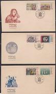 CZECHOSLOVAKIA, 1967, Set Of 3 FDC's,  World Fair, International Exhibition, Montreal, Set 6 V Complete - Tschechoslowakei/CSSR