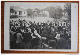 Carte Photo Serbie Serbia Serbien Guerre 1914-1918 Tanz Danse à Pâques Ostern 1918 Soldats Allemands Deutsche Soldaten - Serbie