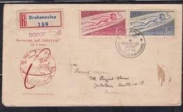 CZECHOSLOVAKIA, 1961, FDC,  World's First Manned Space Flight, Set 2 V Complete - Tschechoslowakei/CSSR