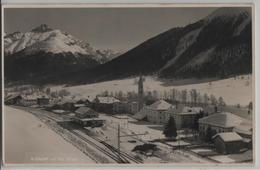 S-chanf Cul Piz D'Esen Im Winter En Hiver - Bahnhof Gare Station - Photo: Guido Canal - GR Grisons