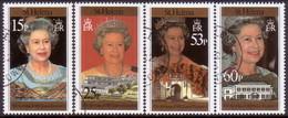 ST HELENA 1996 SG #716-20 Compl.set+m/s Used 70th Birthday Of Queen Elizabeth II - Saint Helena Island