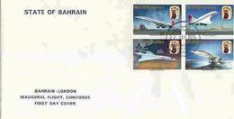 Bahrain 1976, Concorde, 4val In FDC - Bahreïn (1965-...)