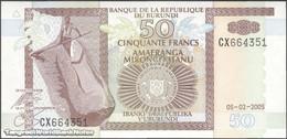 TWN - BURUNDI 36d - 50 Francs 1.7.2003 Prefix CX UNC - Burundi