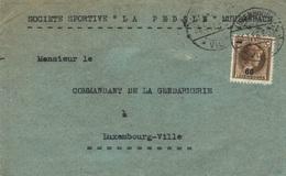 LUXEMBOURG - LETTRE (fragment - Face) - LUXEMBOURG - 1923 - Société Sportive LA PEDALE Muhlenbach - Variétés & Curiosités