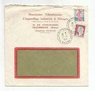OBLITERATION MANUELLE SUR LETTRE A EN TETE DE VILLEURBANNE CUSSET RHONE 1961 - Marcophilie (Lettres)