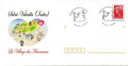 SAINT VALENTIN (INDRE) : FETE DES AMOUREUX Oblitération Temporaire 2011 Amoureux De PEYNET PAP CONCORDANT - Other