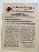 Die Deutsche Arbeitsfront, Rundbrief Nr. 45, 20.9.1936, Region Sachsen - Altri