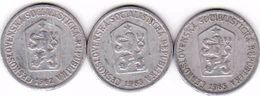 Czechoslovakia 3 X 10 Haler, Halier 1962, 1963, 1965 - Tschechoslowakei