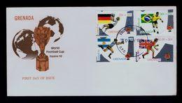 Sports Brazil Argentina Germany England Teams Flags World Football Cup Championship ESPANA´82 En GRENADA Fdcover Sp4747 - 1982 – Espagne