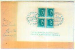 Block 7 EF 1937 Auf Fernbrief Nach Dessau - Briefe U. Dokumente