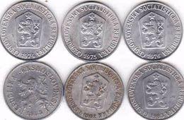 Czechoslovakia 6 X 5 Haler, Halier 1953, 1962, 1963, 1974, 1975, 1976 - Tschechoslowakei