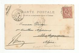 AMBULANT DE CLERMONT FERRAND A ARVANT SUR BELLE CARTE D'HOTEL 1903 - Poste Ferroviaire
